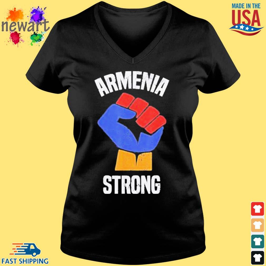 Armenia Strong Shirt Artsakh Republic Defend Armenian Fist Shirt Vneck den