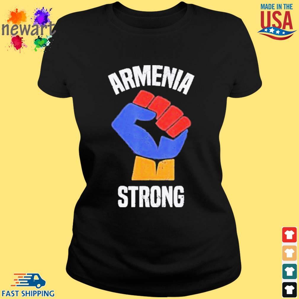 Armenia Strong Shirt Artsakh Republic Defend Armenian Fist Shirt ladies den