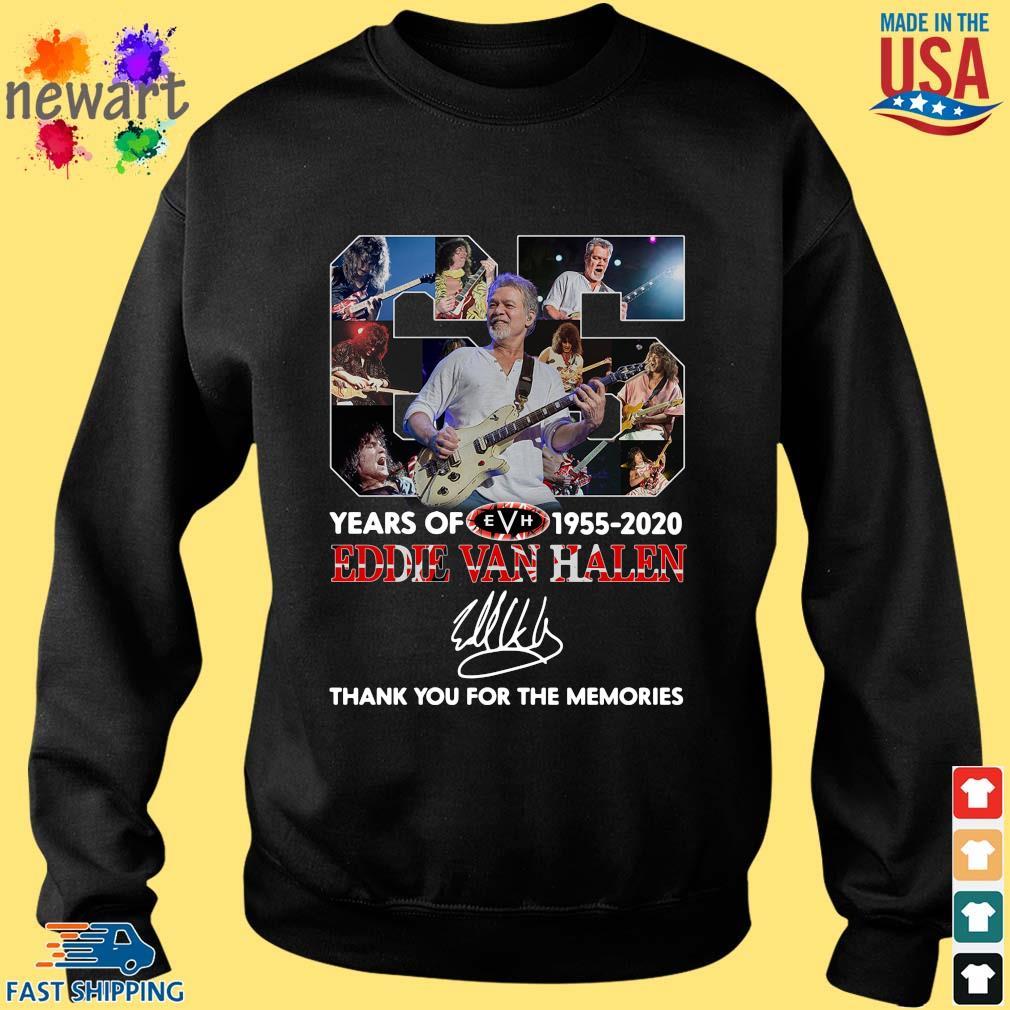 Eddie Van Halen 65 years 1955-2020 thank you for the memories signature s Sweater den