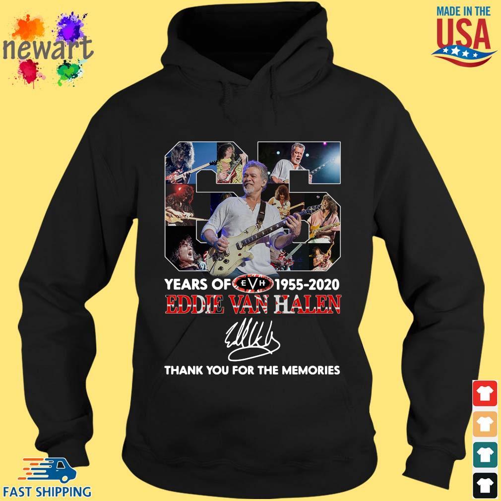 Eddie Van Halen 65 years 1955-2020 thank you for the memories signature s hoodie den