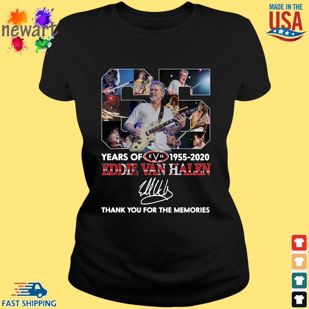 Eddie Van Halen 65 years 1955-2020 thank you for the memories signature s ladies den