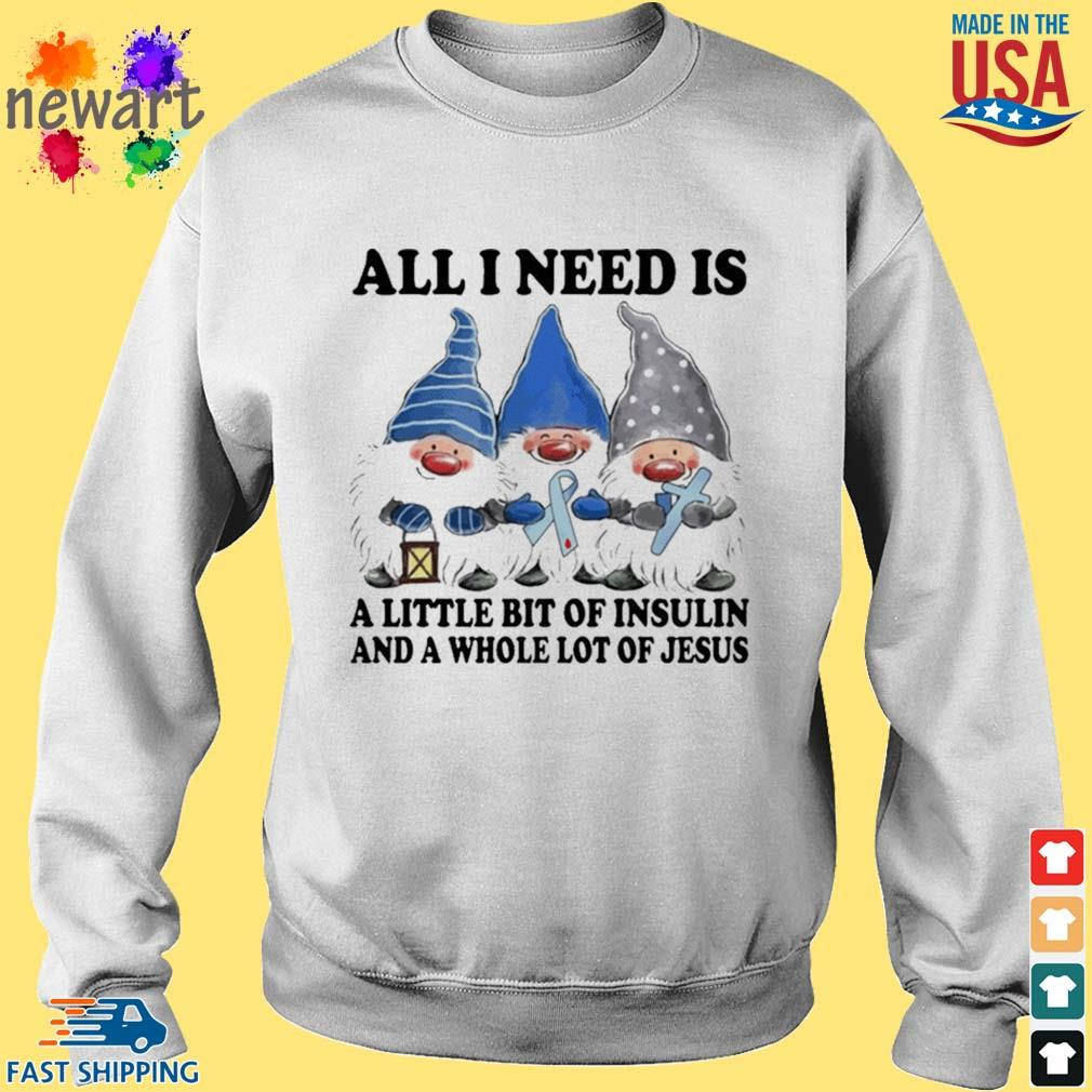 Gnomes All I Need Is A Little Bit Of Insulin Shirt Sweater trang