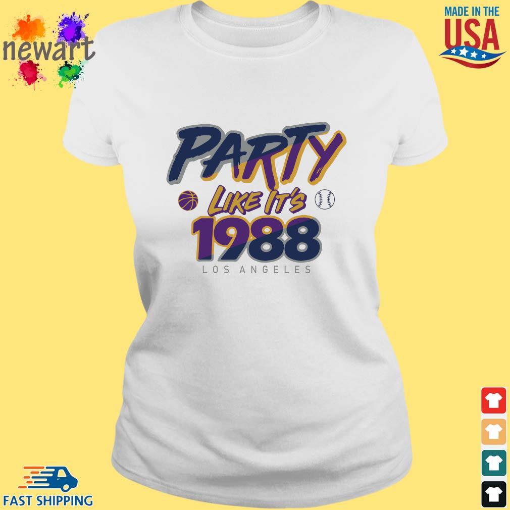 Los Angeles Baseball Party Like It's 1988 Shirt ladies trang
