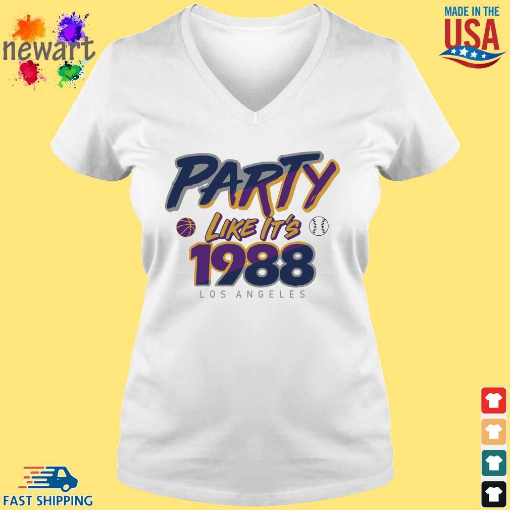 Los Angeles Baseball Party Like It's 1988 Shirt vneck trang