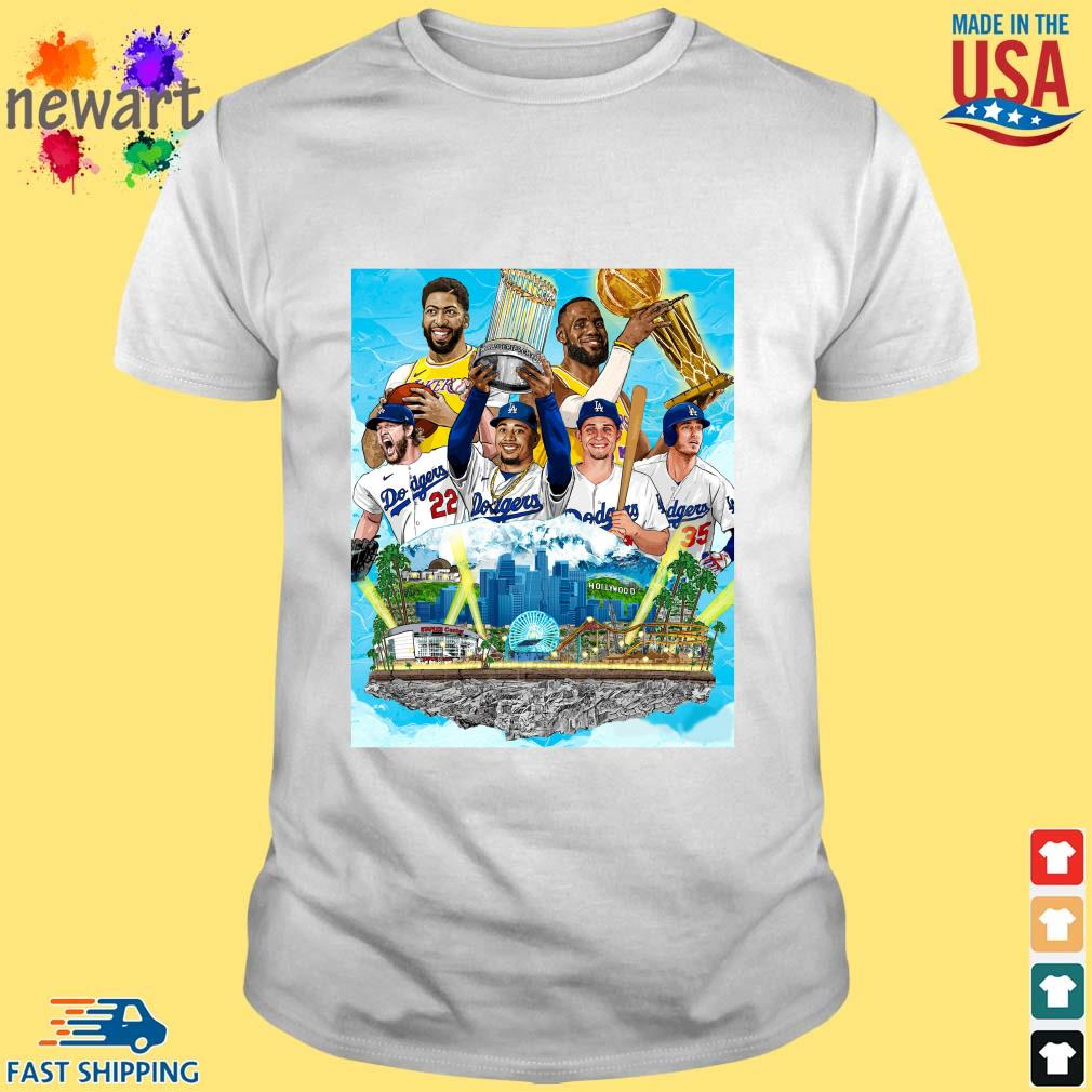 Los Angeles Lakers And Los Angeles Dodgers Champions 2020 Player T-Shirt