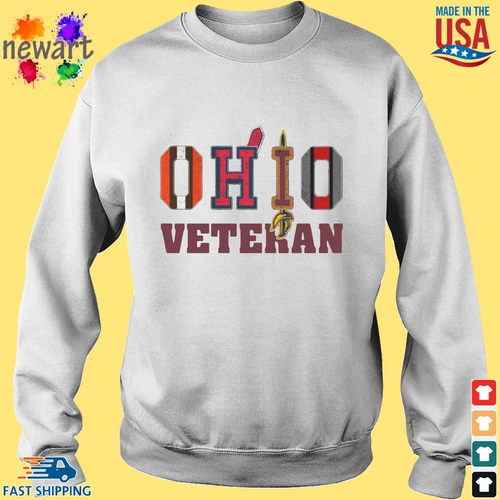 Ohio Cleveland Browns Cleveland Indians Cleveland Cavaliers and Ohio State Buckeyes veteran s Sweater trang