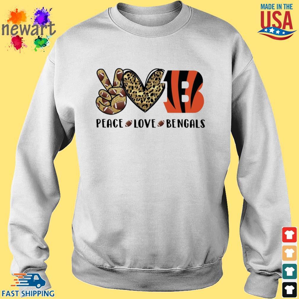 Peace Love Cincinnati Bengals Diamond s Sweater trang