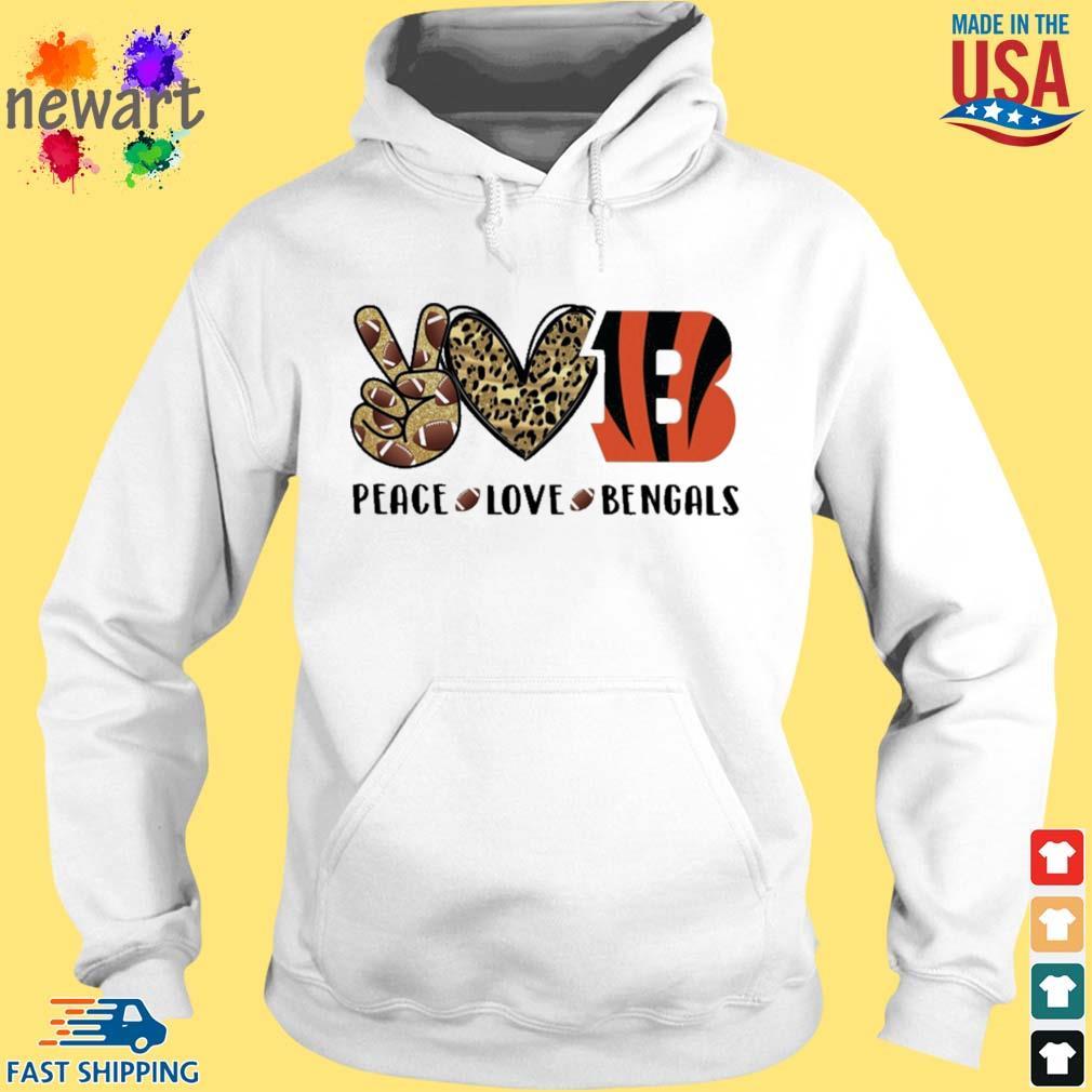 Peace Love Cincinnati Bengals Diamond s hoodie trang