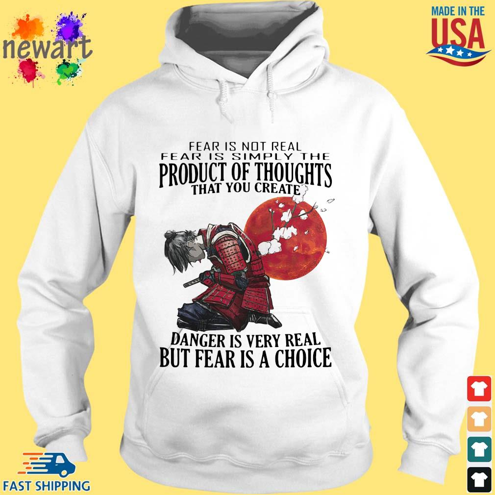 Samurai fear is not real simply the product of thoughts blood moon s hoodie trang