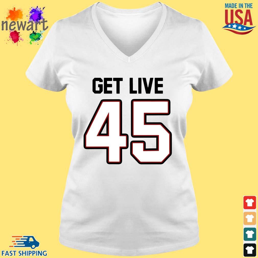 Tampa Bay Football Get Live 45 Shirt vneck trang
