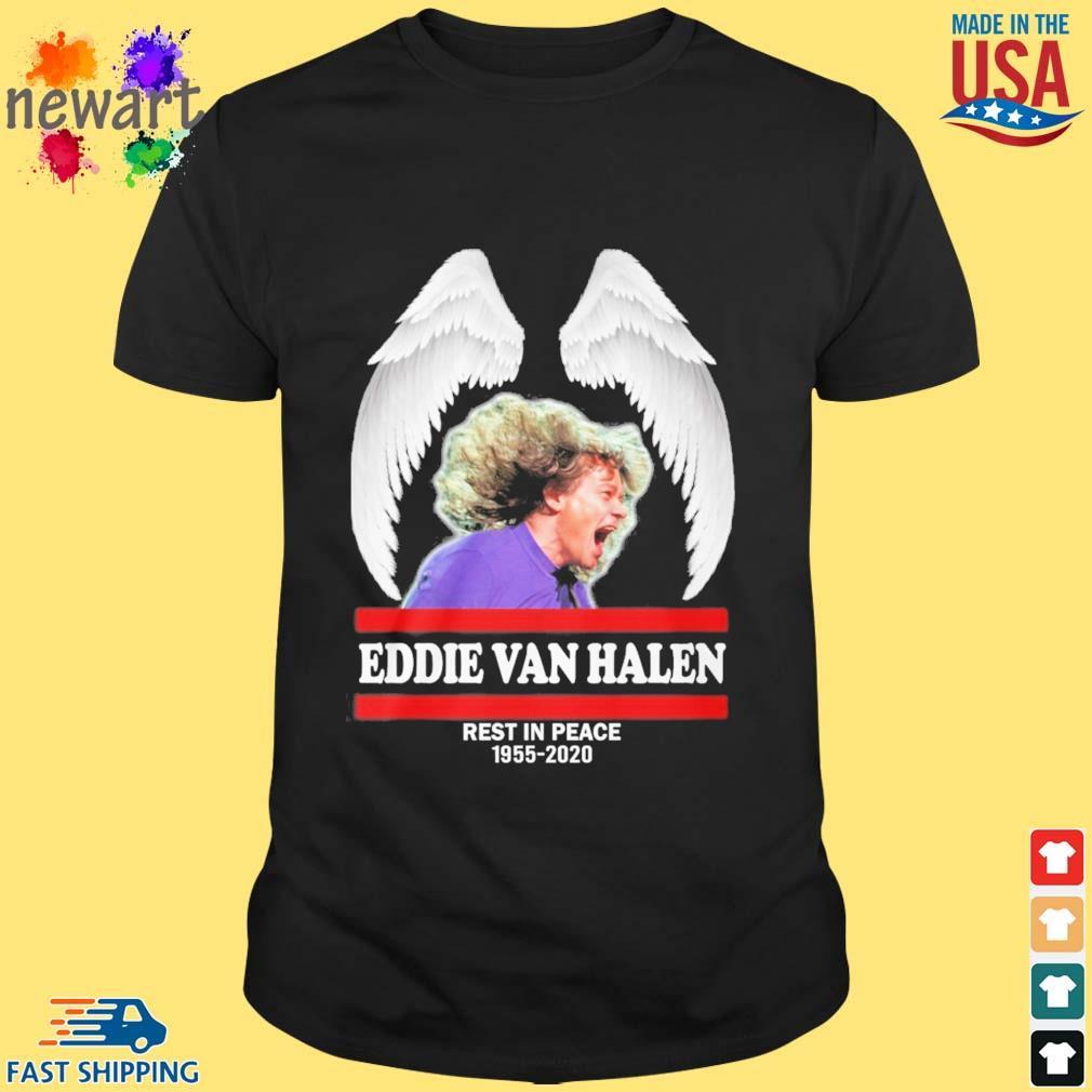 Wings Eddie Van Halen rest in peace 1955-2020 shirt
