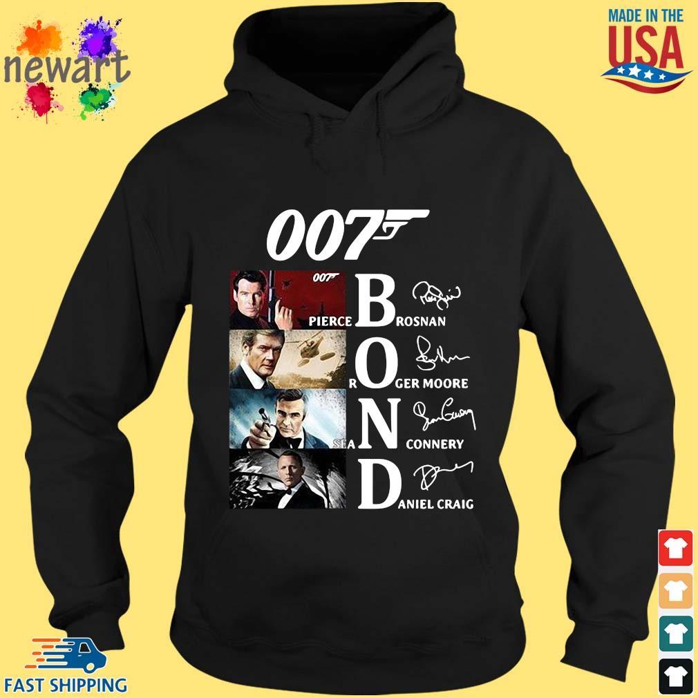 007 Pierce brosnan Roger Moore Sean Connery Daniel Craig signatures s hoodie den
