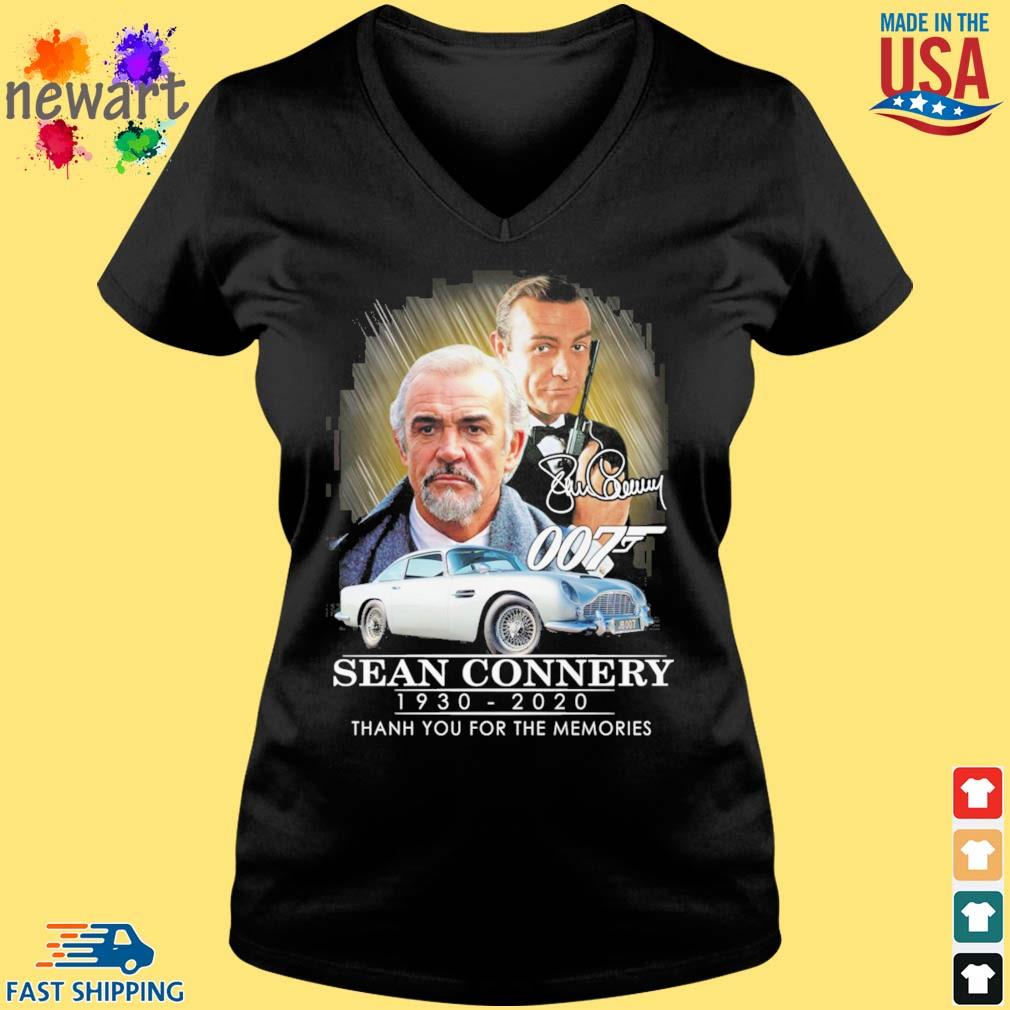 007 Sean Connery 1930-2020 thank you for the memories signatures s Vneck den