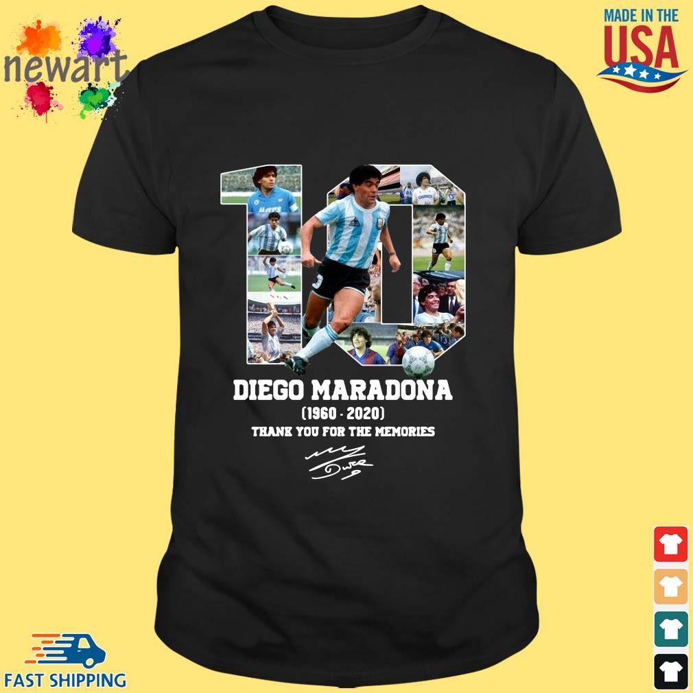 10 Diego Maradona 1960-2020 thank you for the memories signature s Shirt den