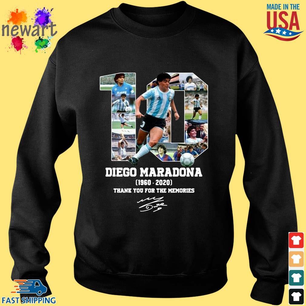10 Diego Maradona 1960-2020 thank you for the memories signature shirt