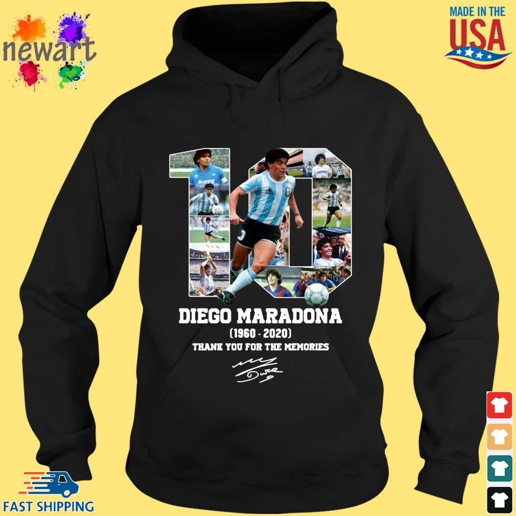 10 Diego Maradona 1960-2020 thank you for the memories signature s hoodie den