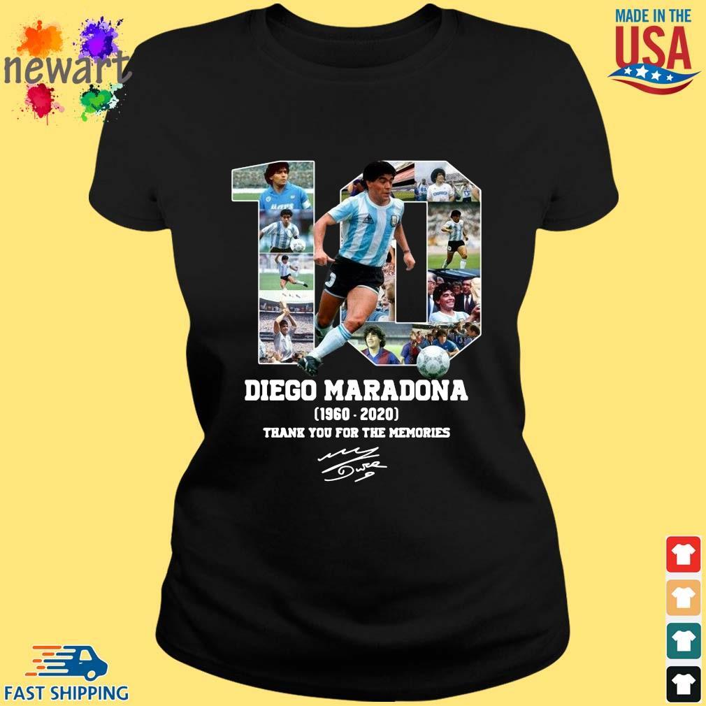 10 Diego Maradona 1960-2020 thank you for the memories signature s ladies den