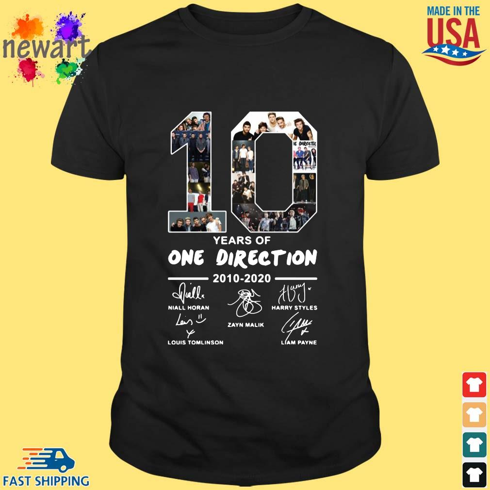 10 years of one direction 2010 2020 signatures s Shirt den
