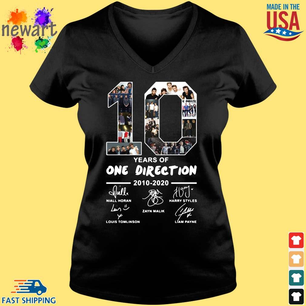 10 years of one direction 2010 2020 signatures s Vneck den