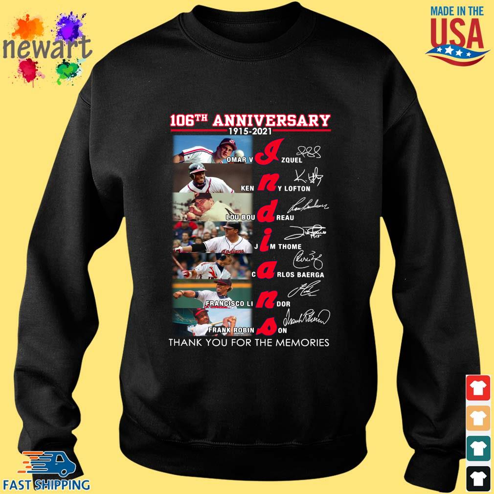 106th anniversary 1915 2021 Indians signatures thank you for the memories shirt