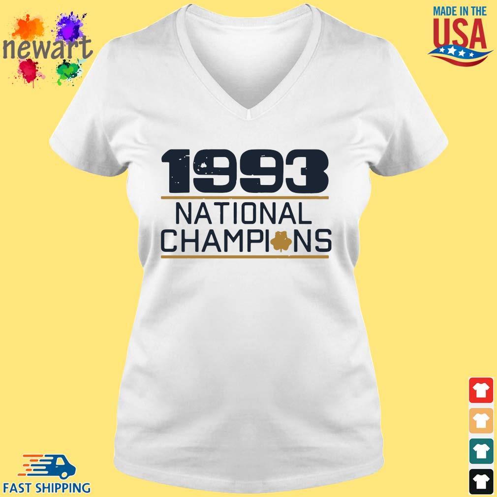 1993 national Champions s vneck trang