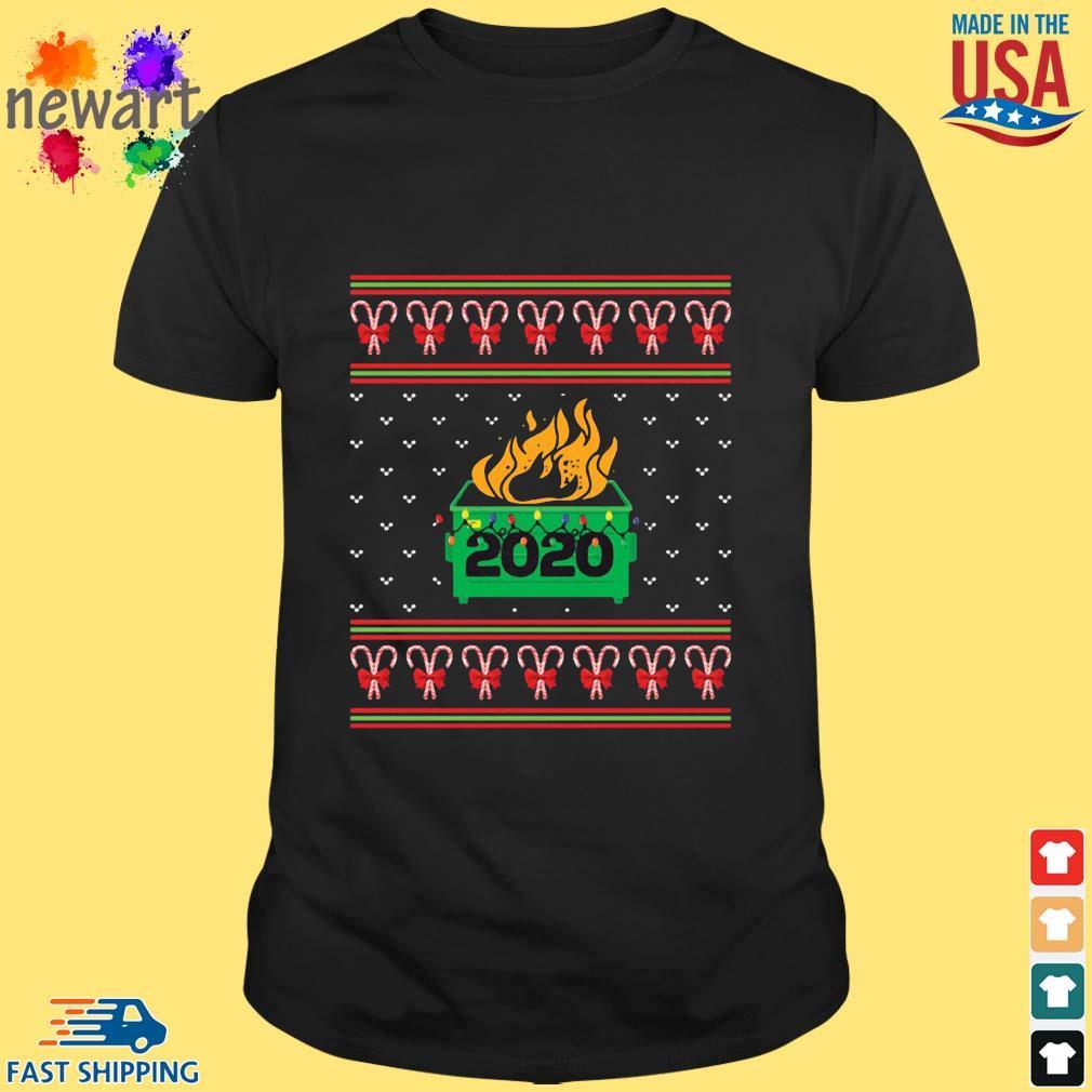 2020 Dumpster Fire Light Ugly Christmas Sweater Shirt den