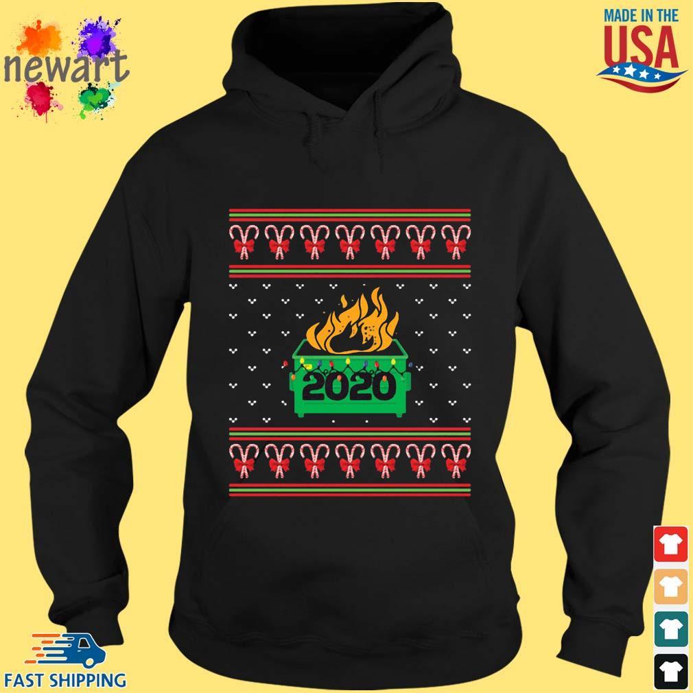 2020 Dumpster Fire Light Ugly Christmas Sweater hoodie den