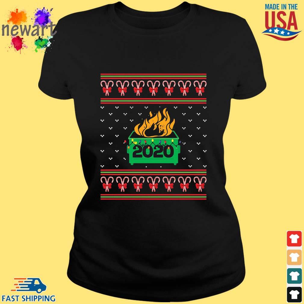 2020 Dumpster Fire Light Ugly Christmas Sweater ladies den