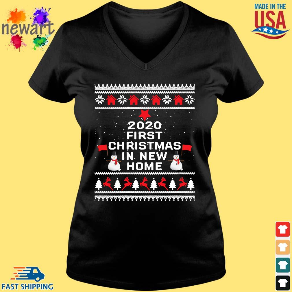 2020 first Christmas in new home Ugly Christmas sweater Vneck den