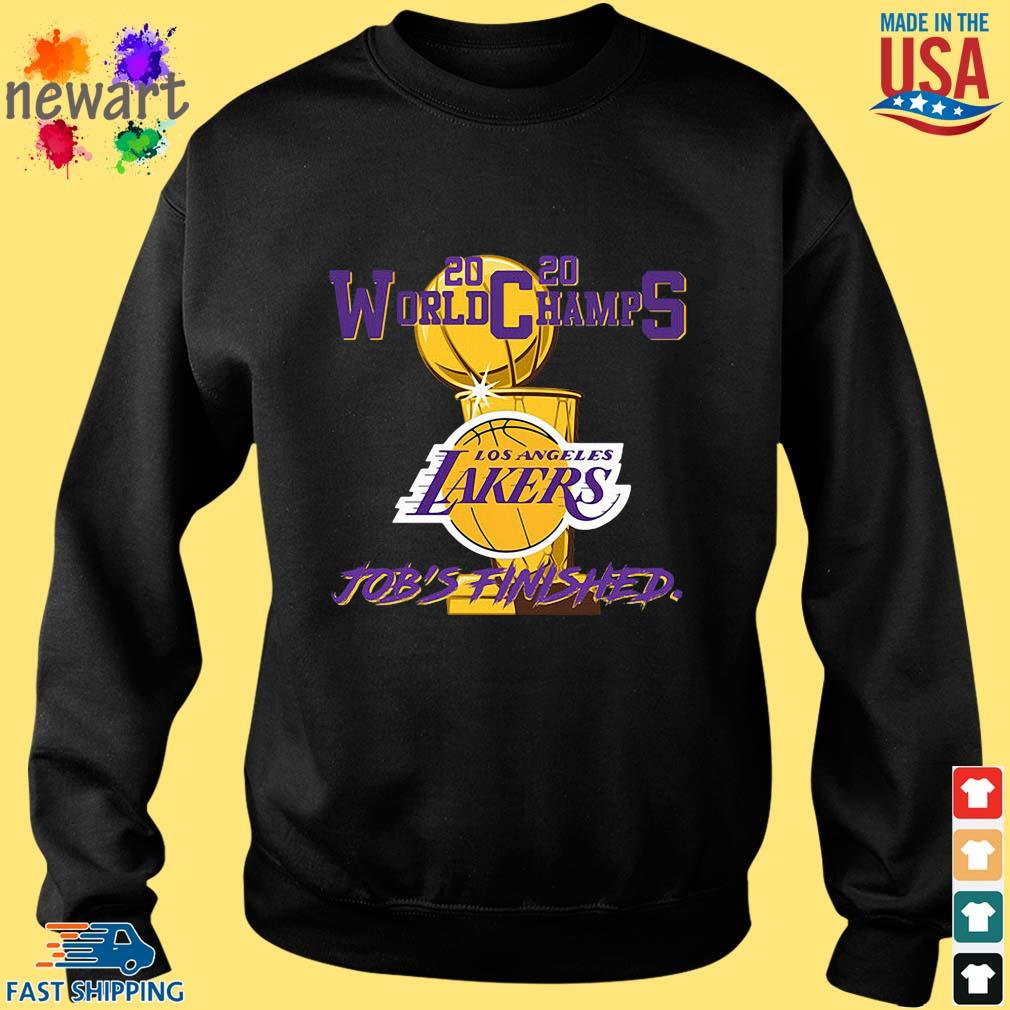 2020 World Champions Los Angeles Lakers Job's Finished Shirt