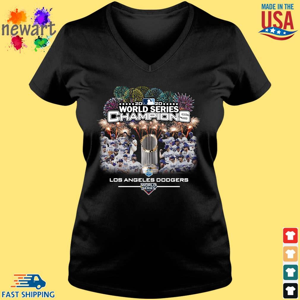 2020 World Series Champions Los Angeles Dodgers Shirt Vneck den