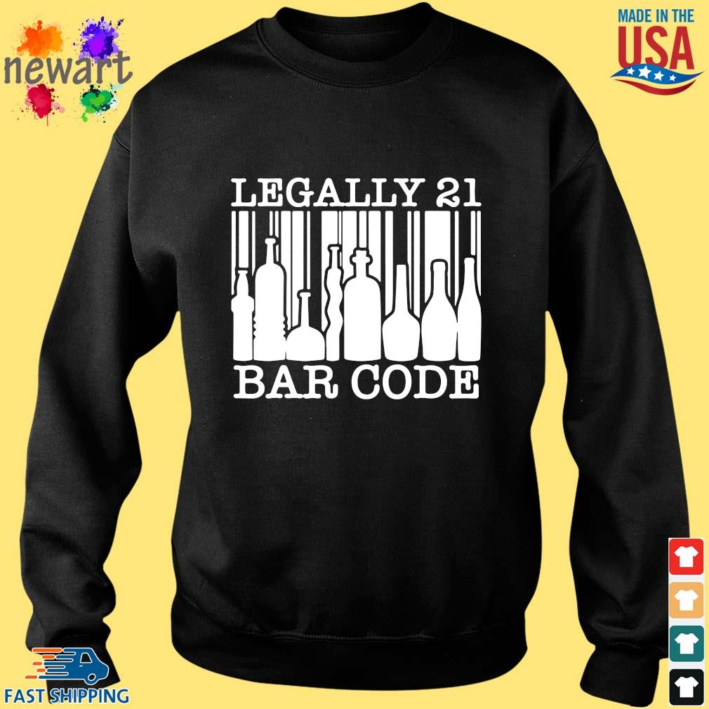 21st birthday boys girls cool legally 21 barcode shirt