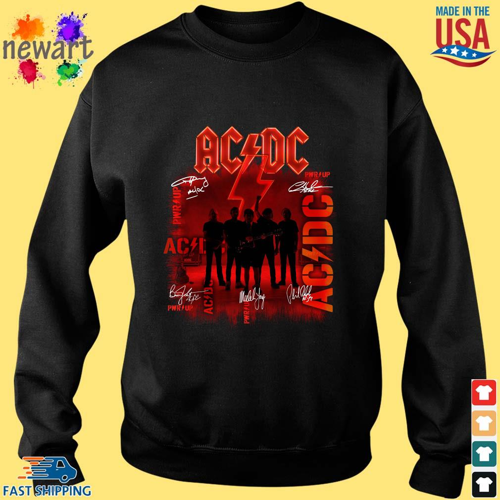 ACDC Rock Band Power Up Album Signatures Shirt