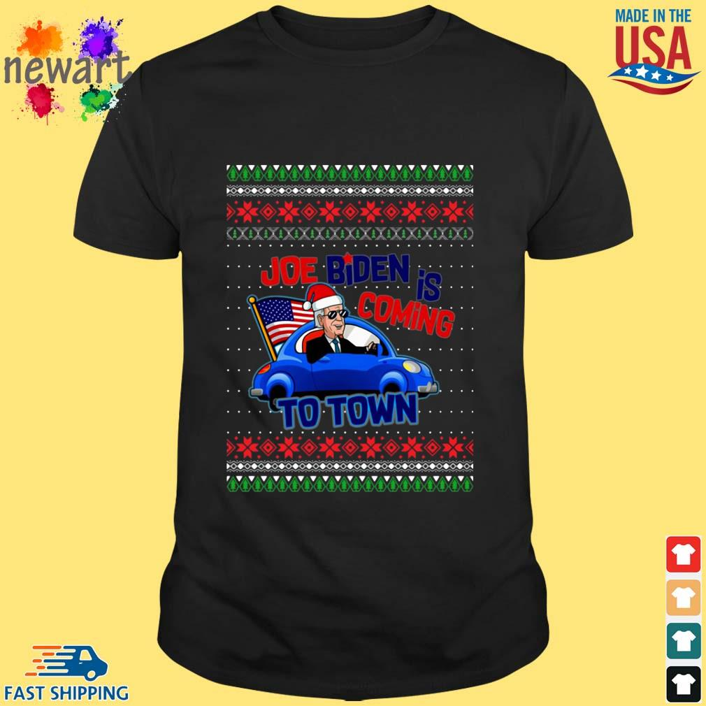 Biden Is Coming To Town New President Potus 2020 Ugly Christmas Sweater Shirt den