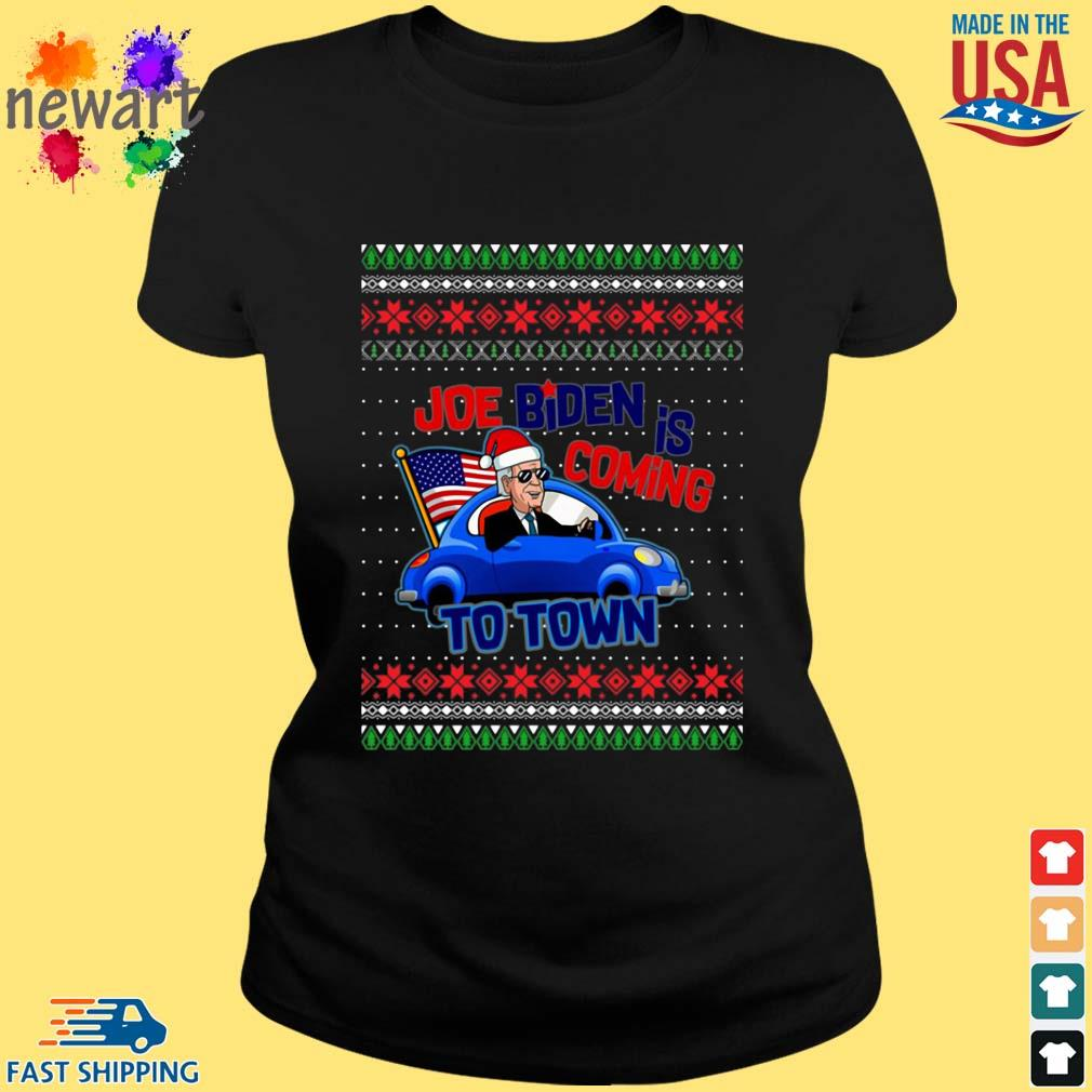 Biden Is Coming To Town New President Potus 2020 Ugly Christmas Sweater ladies den