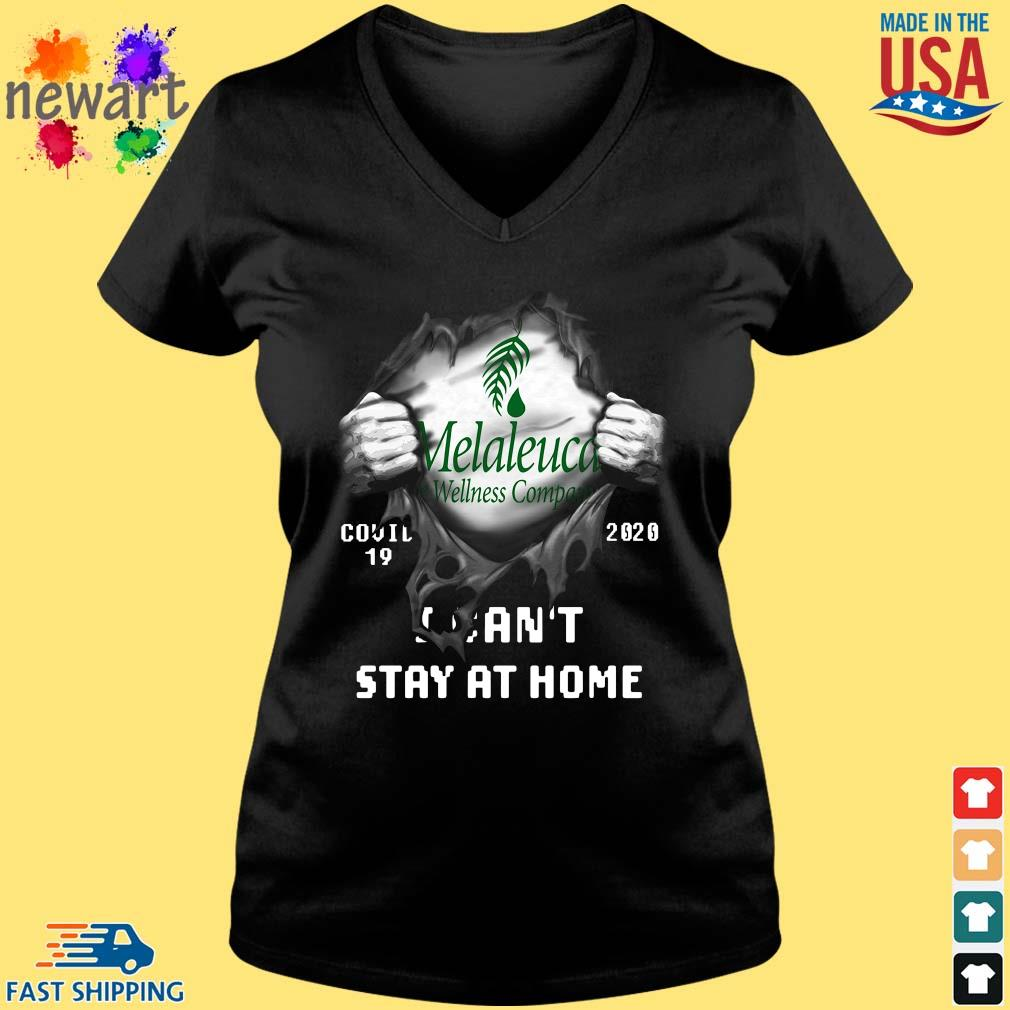 Blood inside Me Melaleuca Wellness Company Covid 19 2020 I can't stay at home s Vneck den