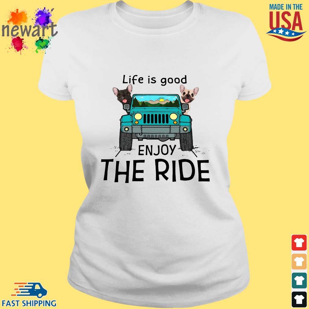 Bull dog life is good enjoy the ride car s ladies trang