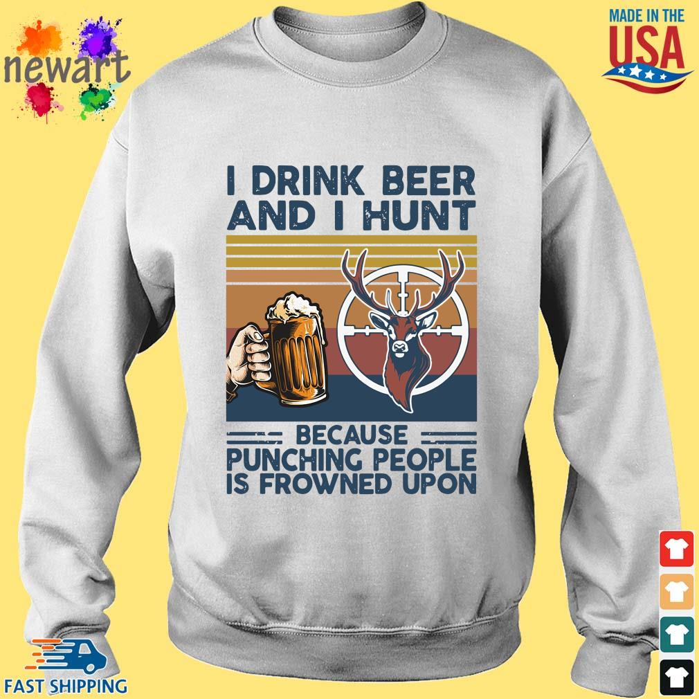 I drink beer and I hunt because punching people is frowned upon vintage s Sweater trang