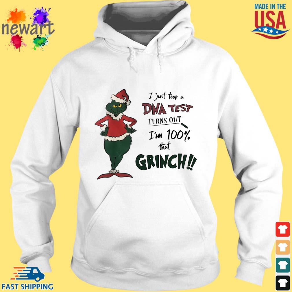 I just took a DNA test turns out I'm 100% that Grinch Santa sweater hoodie trang