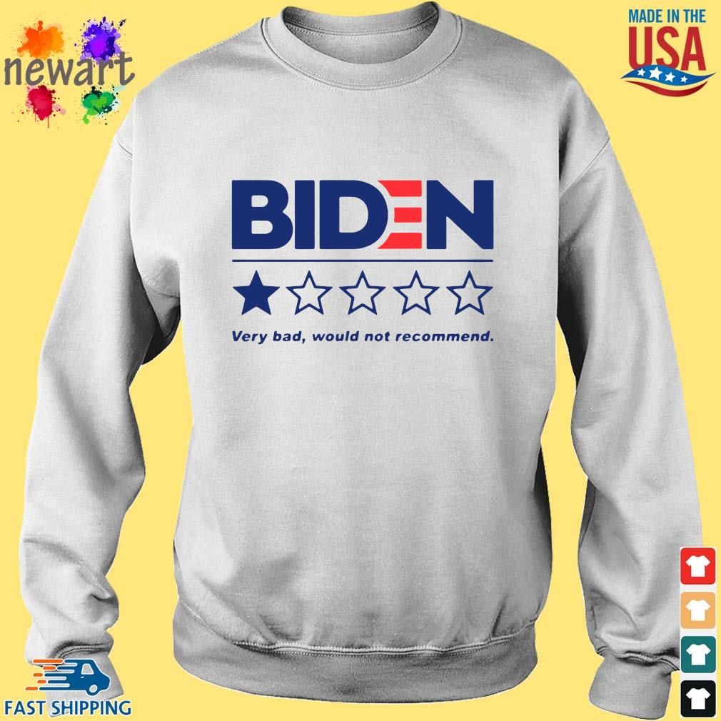 Joe Biden very bad would not recommend s Sweater trang