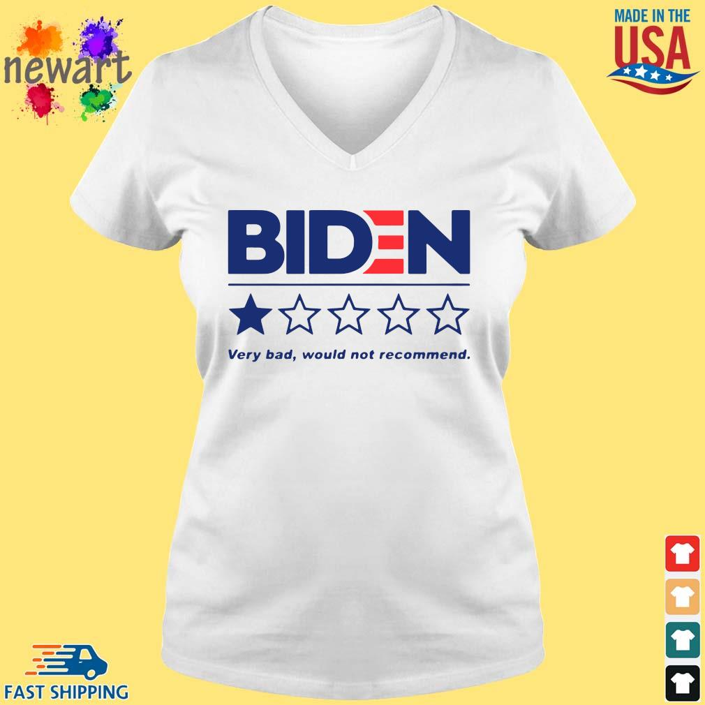 Joe Biden very bad would not recommend s vneck trang