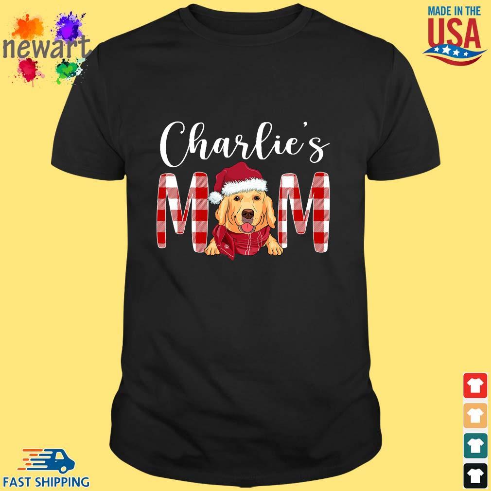 Santa Golden Retriever Charlie's Mom Christmas Sweater Shirt den