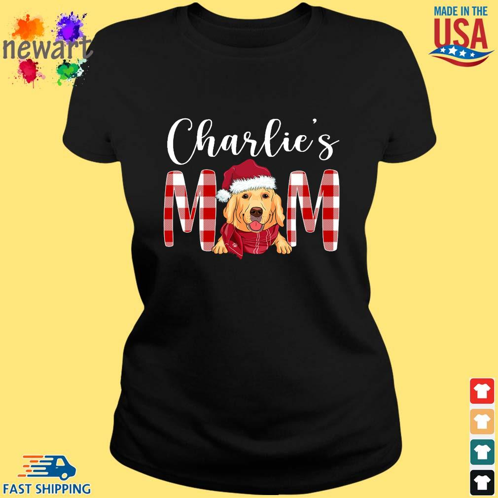 Santa Golden Retriever Charlie's Mom Christmas Sweater ladies den