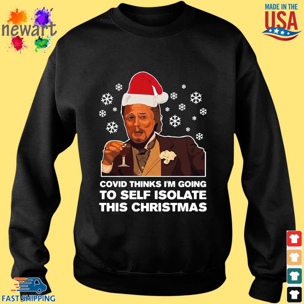 Santa Leonardo DiCaprio Covid thinks I'm going to self isolate this Christmas Shirt