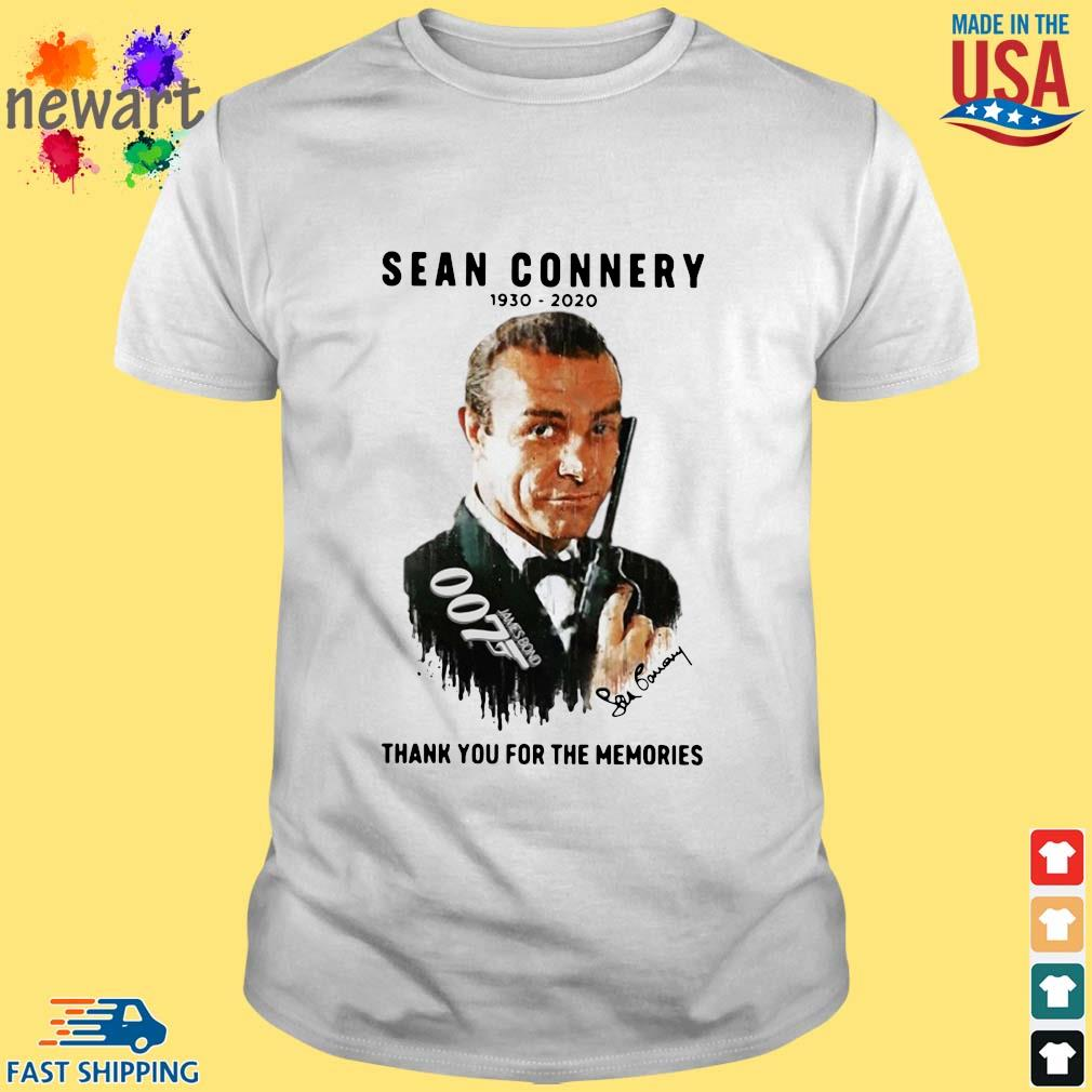 Sean Connery 007 1930-2020 thank you for the memories signature shirt
