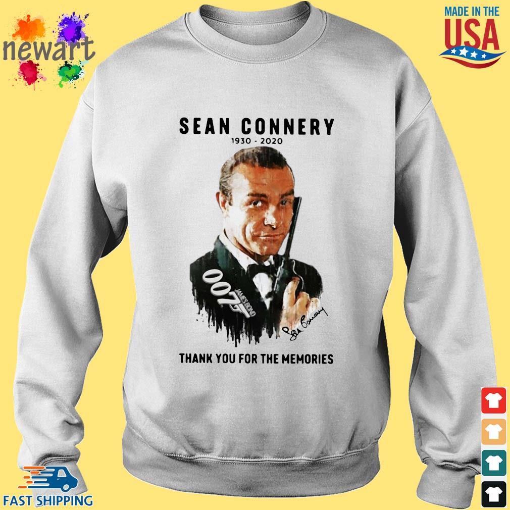 Sean Connery 007 1930-2020 thank you for the memories signature s Sweater trang