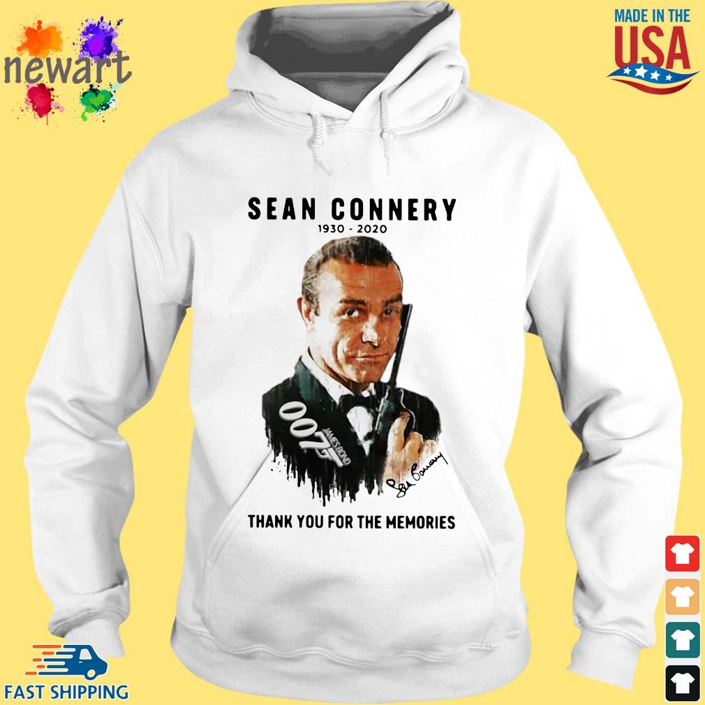 Sean Connery 007 1930-2020 thank you for the memories signature s hoodie trang
