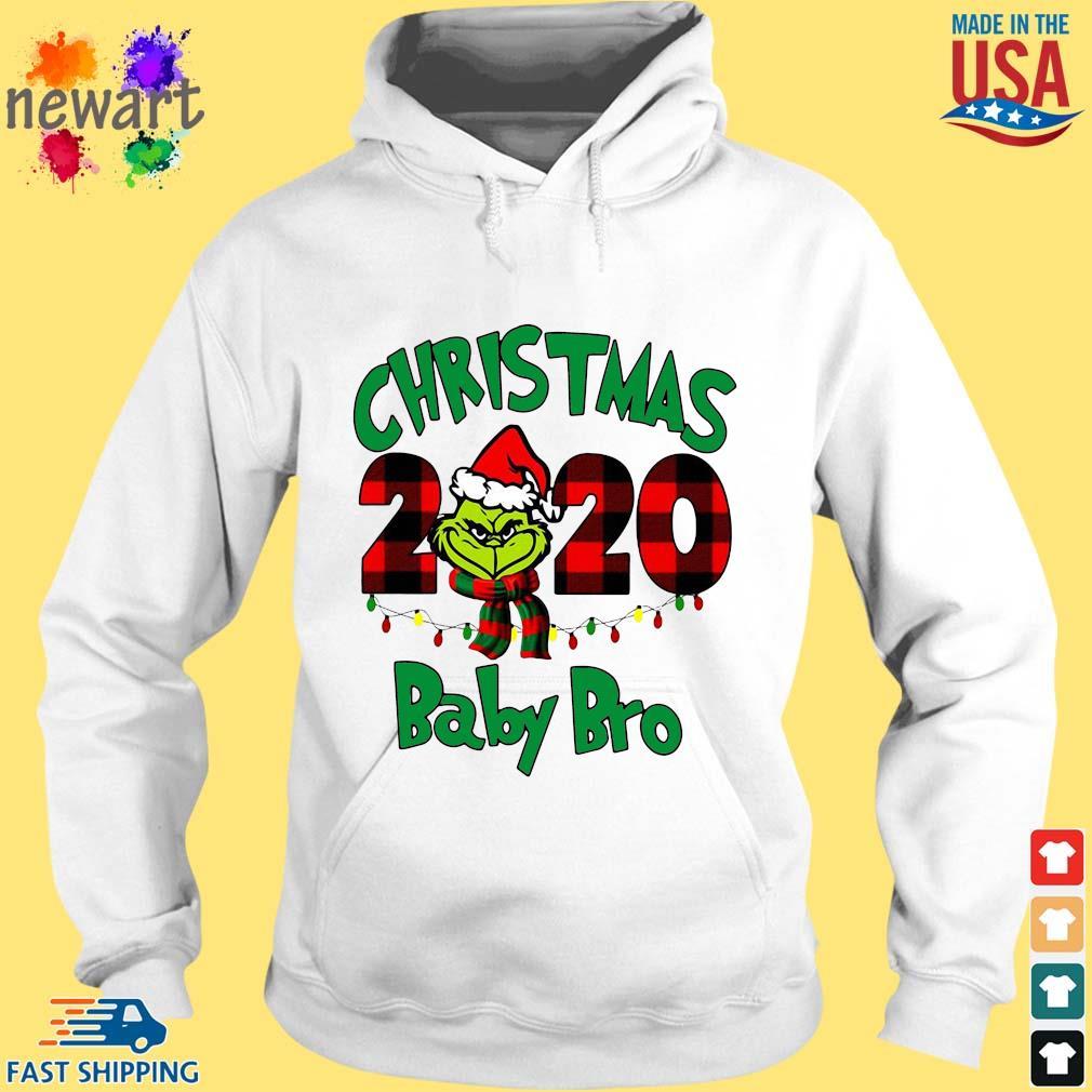 The Grinch Christmas 2020 baby bro sweater hoodie trang
