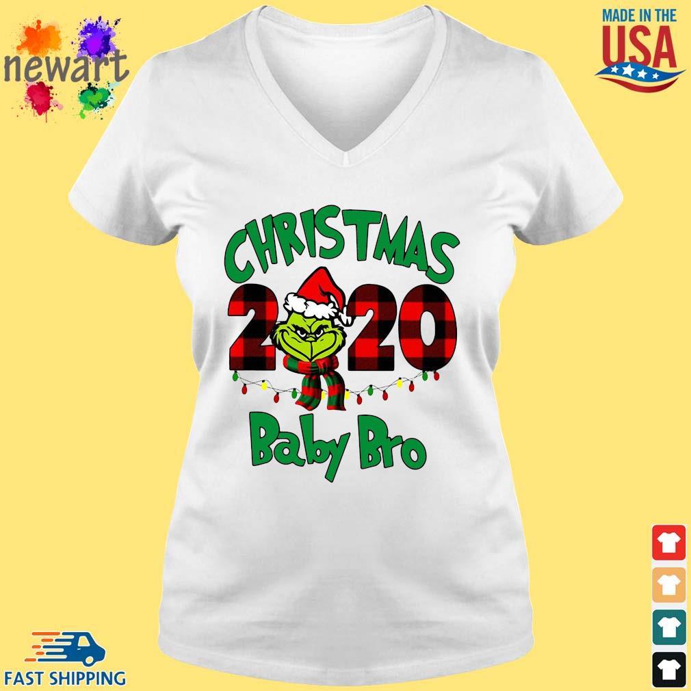 The Grinch Christmas 2020 baby bro sweater vneck trang