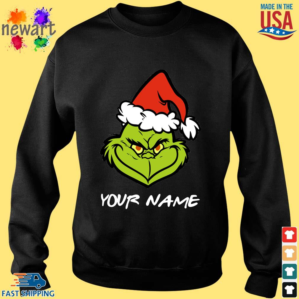 Santa Grinch your name Christmas sweater